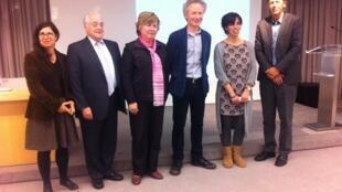 Atribuição do Prémio Gulbenkian Books em Paris a 15 de Outubro de 2015, Dominique Nedellec, é o terceiro a contar da direita.
