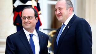 Вопросы сближения Грузии с НАТО грузинский президент Георгий Марвелашвили обсудил в Париже с президентом Франции 21 апреля 2016