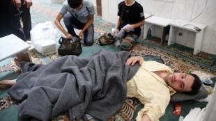 Un survivant de l'attaque chimique présumée menée par le régime sur Ghouta, en Syrie, le 21 août 2013.
