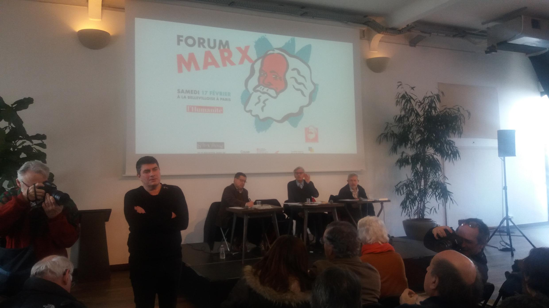 在巴黎召開的馬克思主義論壇,2018年2月17日。