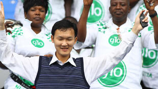 Chinese football supporter living in Nigeria