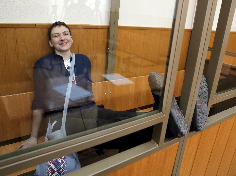 Надежда Савченко в суде города Донецка на оглашении приговора 22 марта 2016
