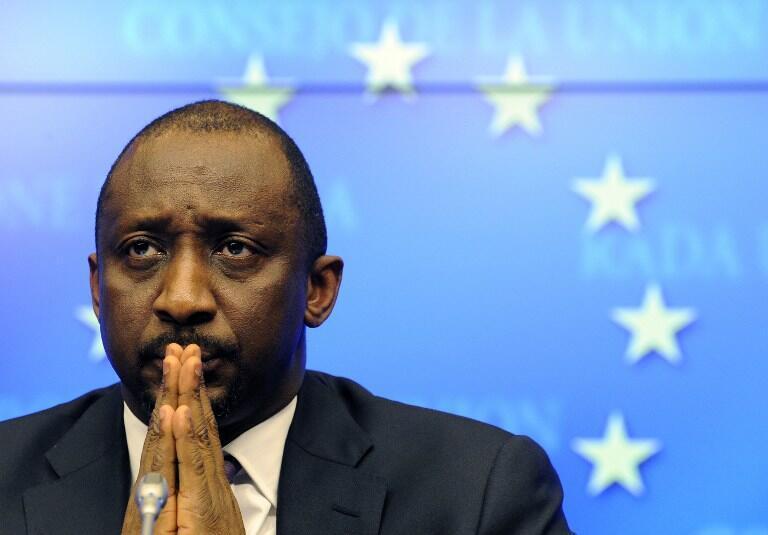 waziri wa mambo ya nje wa Mali Tieman Coulibaly,jijini Brusels Januari 17, mwaka  2013.
