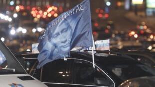 Manifestação em apoio à candidatura de Vladimir Putin, em Moscou, no sábado (18).