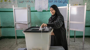 Polling station in Embaba, a low income district of Cairo, Egypt, 26 March 2018.