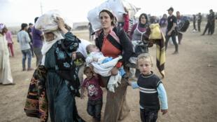 Une grande confusion règne à la frontière entre la Turquie et la Syrie, dans la province de Sanliurfa, où affluent les réfugiés kurdes, chassés de Syrie par l'avancée des troupes djihadistes de l'organisation EI.