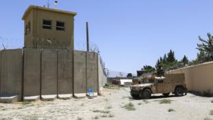 base aérienne de Bagram, évacuée par les troupes américaines au début du mois de juillet 2021 en Afghanistan