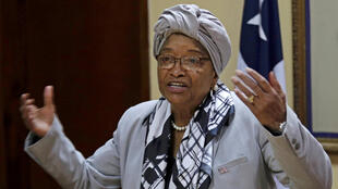 Liberia's ex-president Ellen Johnson Sirleaf speaks during a news conference at the Presidential Palace in Monrovia, Liberia October 12, 2017