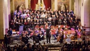Buổi hòa nhạc Đông - Tây tại thành phố Choisy Le Roi.