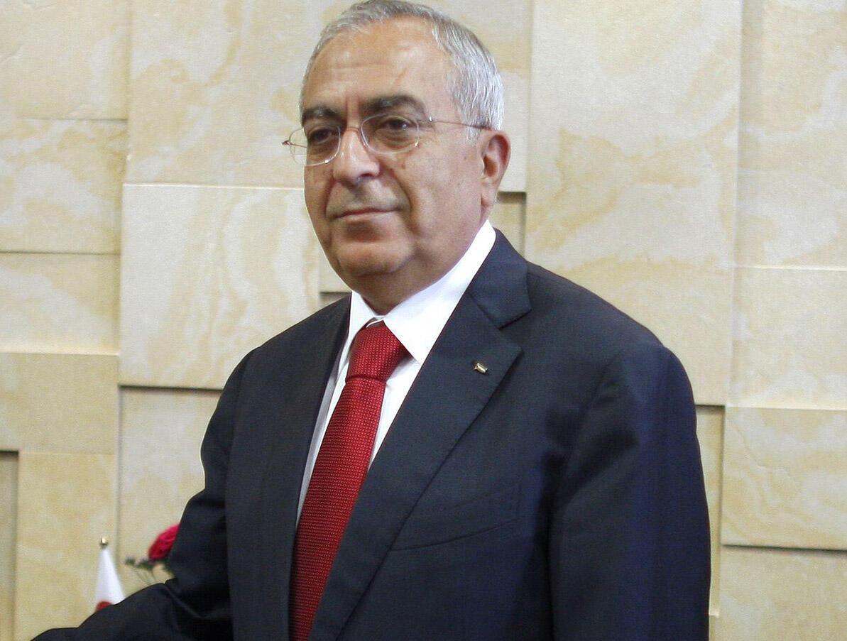 O primeiro-ministro palestino Salam Fayyad.