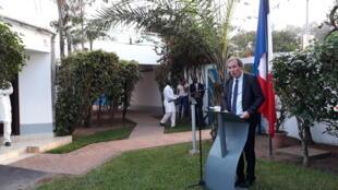 L'ambassadeur de France au Sénégal et en Gambie, Christophe Bigot, le 5 juillet à Banjul.