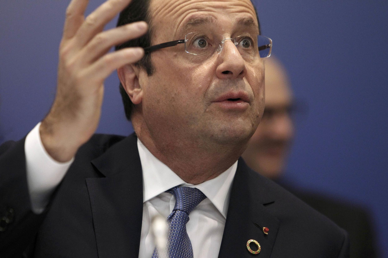 François Hollande, pendant la matinée, lors du Sommet de l'Elysée, ce samedi 7 décembre.