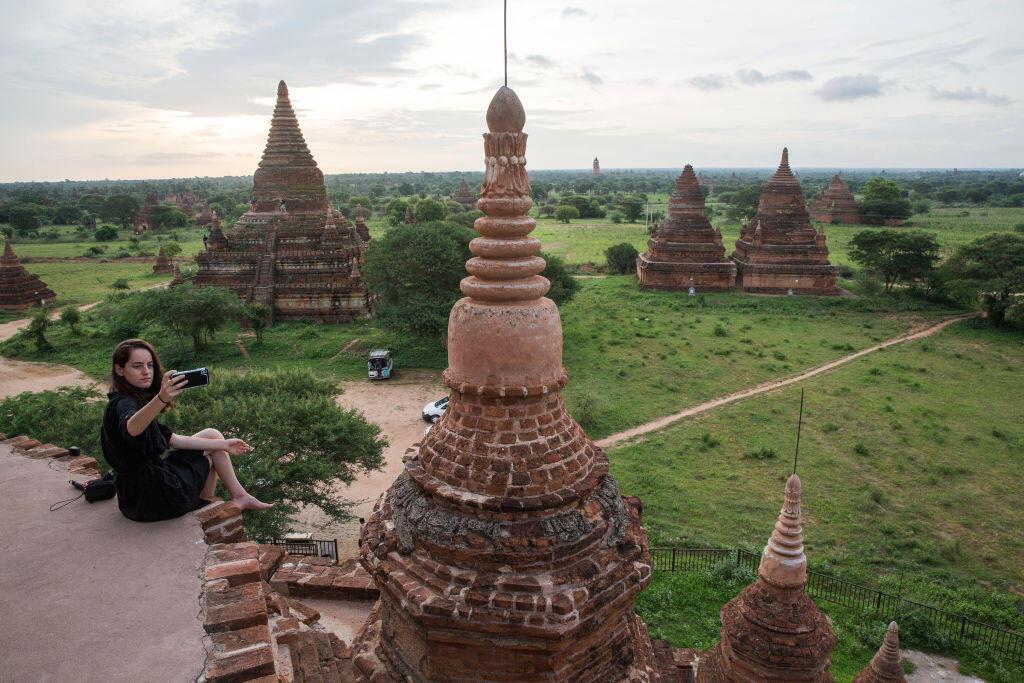 Un des 3000 temples bouddhistes de Bagan, en Birmanie en juin 2017.