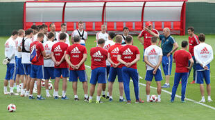 L'équipe de Russie à l'entraînement dans la région de Moscou, le 30 juin 2018.