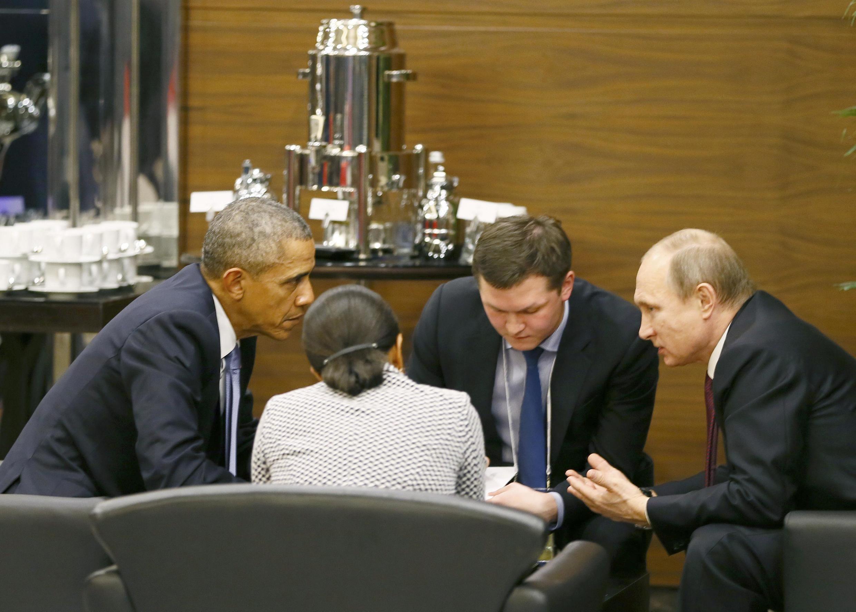 Hai nguyên thủ Mỹ - Nga hội ý bên lề hội nghị G20, Antalya, Thổ Nhĩ Kỳ, ngày 15/11/2015