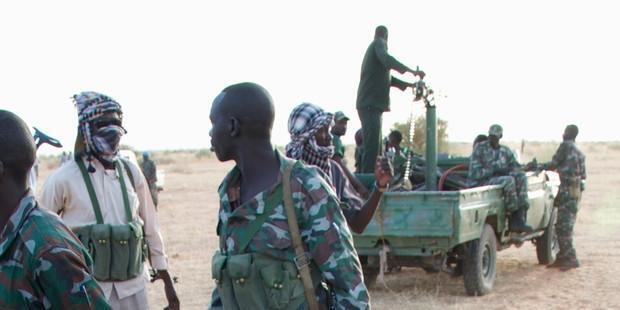 Picha ikionyesha askari huko Sudan
