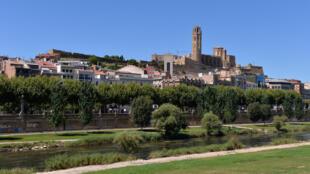 Vista de la ciudad catalana de Lérida, noreste de España, el 4 de julio de 2020