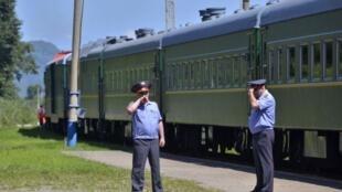 Đoàn tầu bọc thép chở lãnh đạo Bắc Triều Tiên Kim Jong Il sang thăm Nga, ngày 20/08/2011.