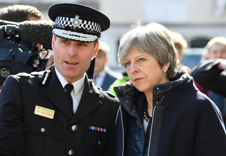 A primeira-ministra britânica Theresa May, que vem sendo criticada por conta do tratamento aos imigrantes caribenhos, em foto de 15/03/2018.
