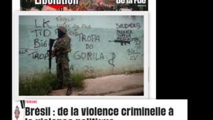 O jornal Libération publica uma coluna assinada por Frédéric Vandenberghe, professor de sociologia da UERJ, sobre as consequências da violência política no Brasil.