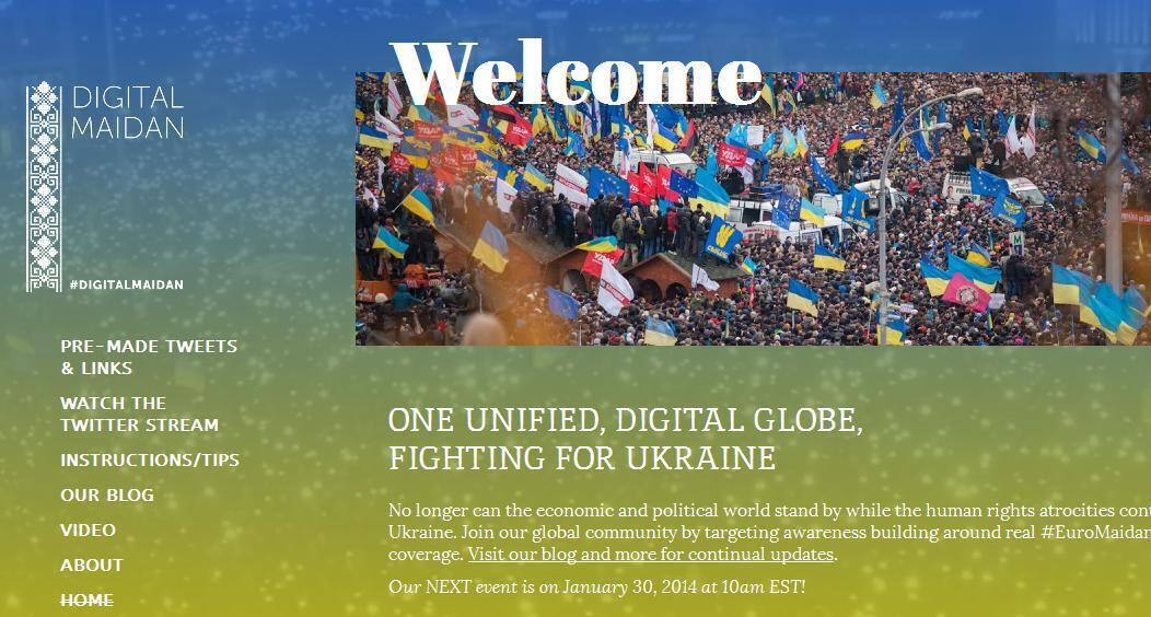 Capture d'écran du site Digitalmaidan.com.