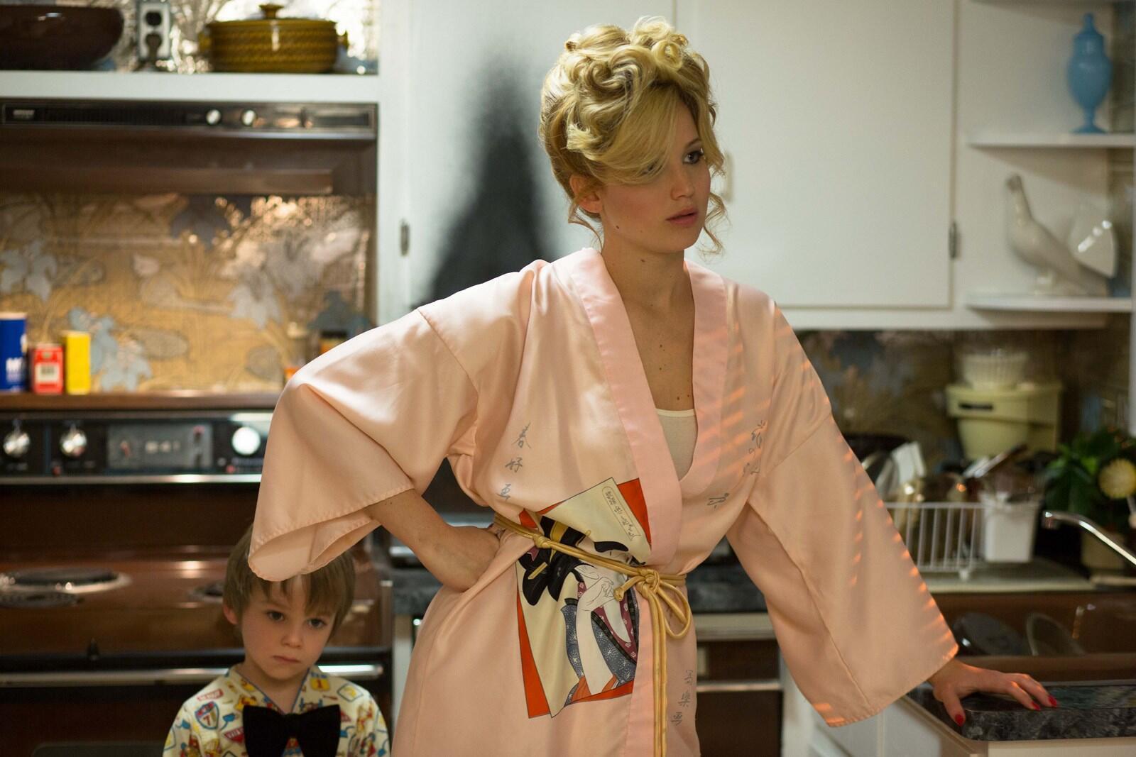 Jennifer Lawrence en la película American Hustle.