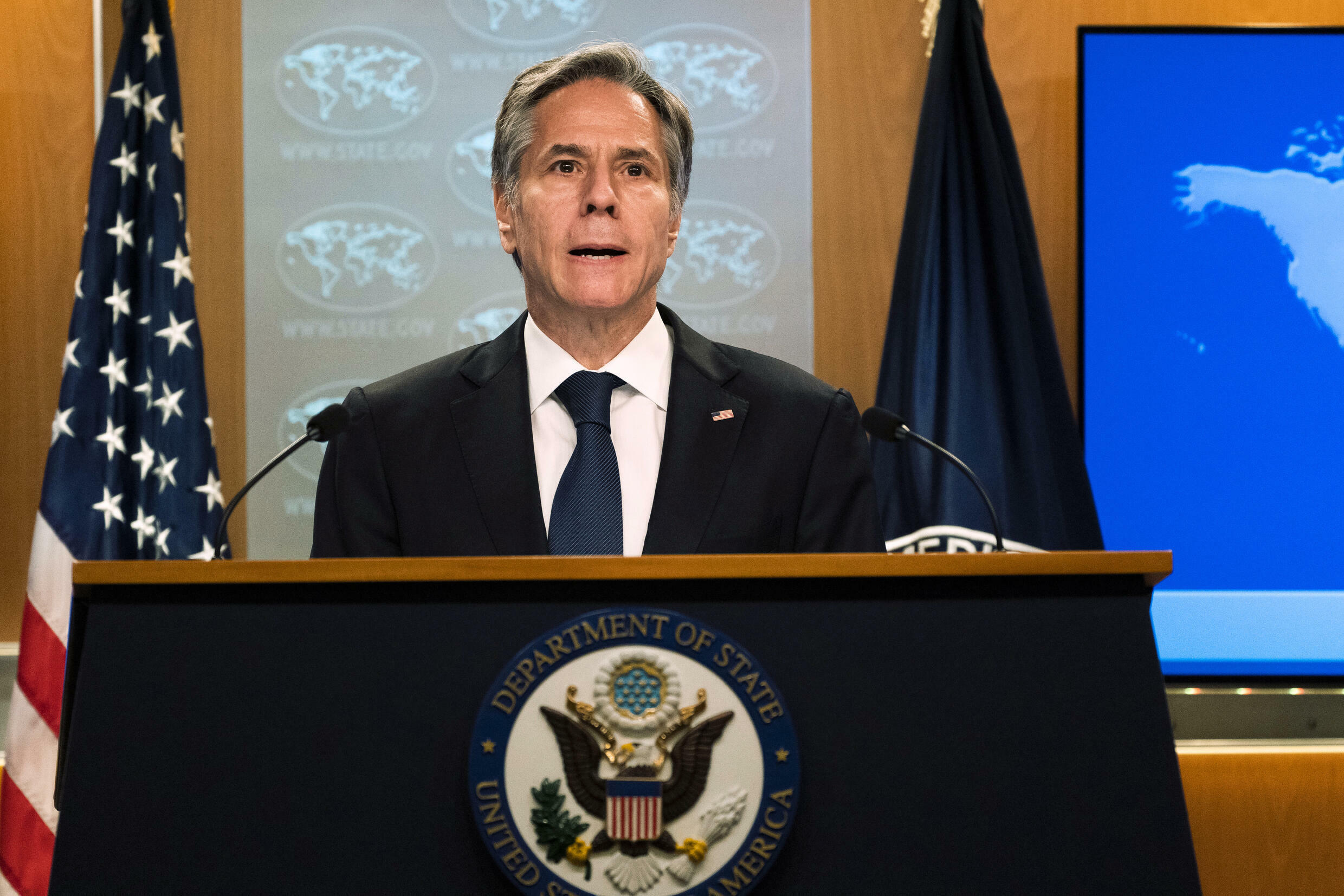 US Secretary of State Antony Blinken, who met in Washington in June 2021 with survivors of internment camps in China's Xinjiang region, has spoken out against the alleged use of forced labor there
