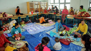Một trại đón nhận người trú bão Tembin tại TP Hồ Chí Minh.