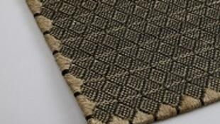 Muestra de un tapiz de la firma colombiana, Verdi.