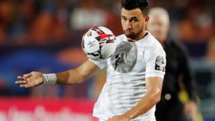 Mahmoud Hassan dit Trezeguet lors de la CAN 2019.