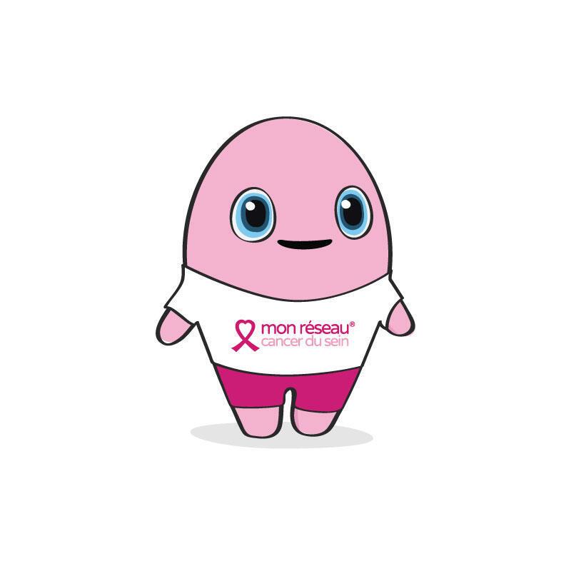 Imagen del personaje Vik Sein, de la asociación mon réseau cancer du sein.