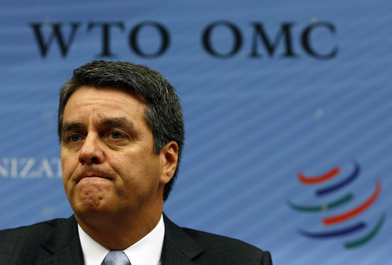 O brasileiro Roberto Azevêdo, durante entrevista coletiva na sede da OMC, em Genebra, em 9 de setembro de 2013.