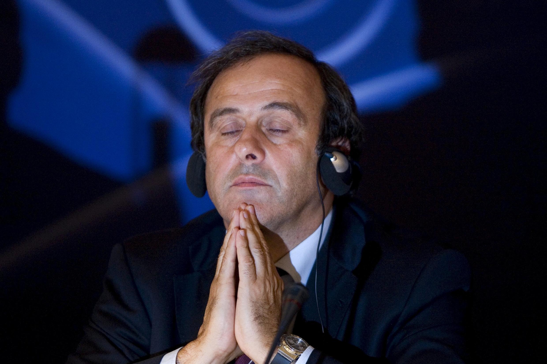 O presidente da União Europeia de Futebol, Michel Platini