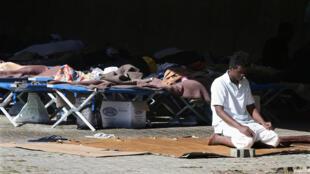 Camp d'accueil de la Croix-Rouge en Italie, près de Vintimille, le 3 octobre 2016.