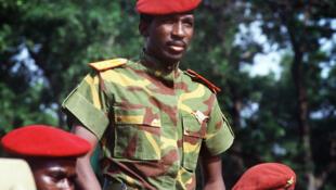 Thomas Sankara, le 4 août 1985, lors de la célébration du 2ème anniversaire de la révolution du Burkina Faso.