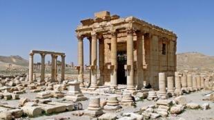 El templo de Baalshamin en Palmira.