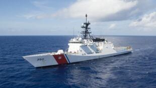 Tuần duy Mỹ USCGC Bertholf sau đợt tham gia tập trận RIMPAC 2018.