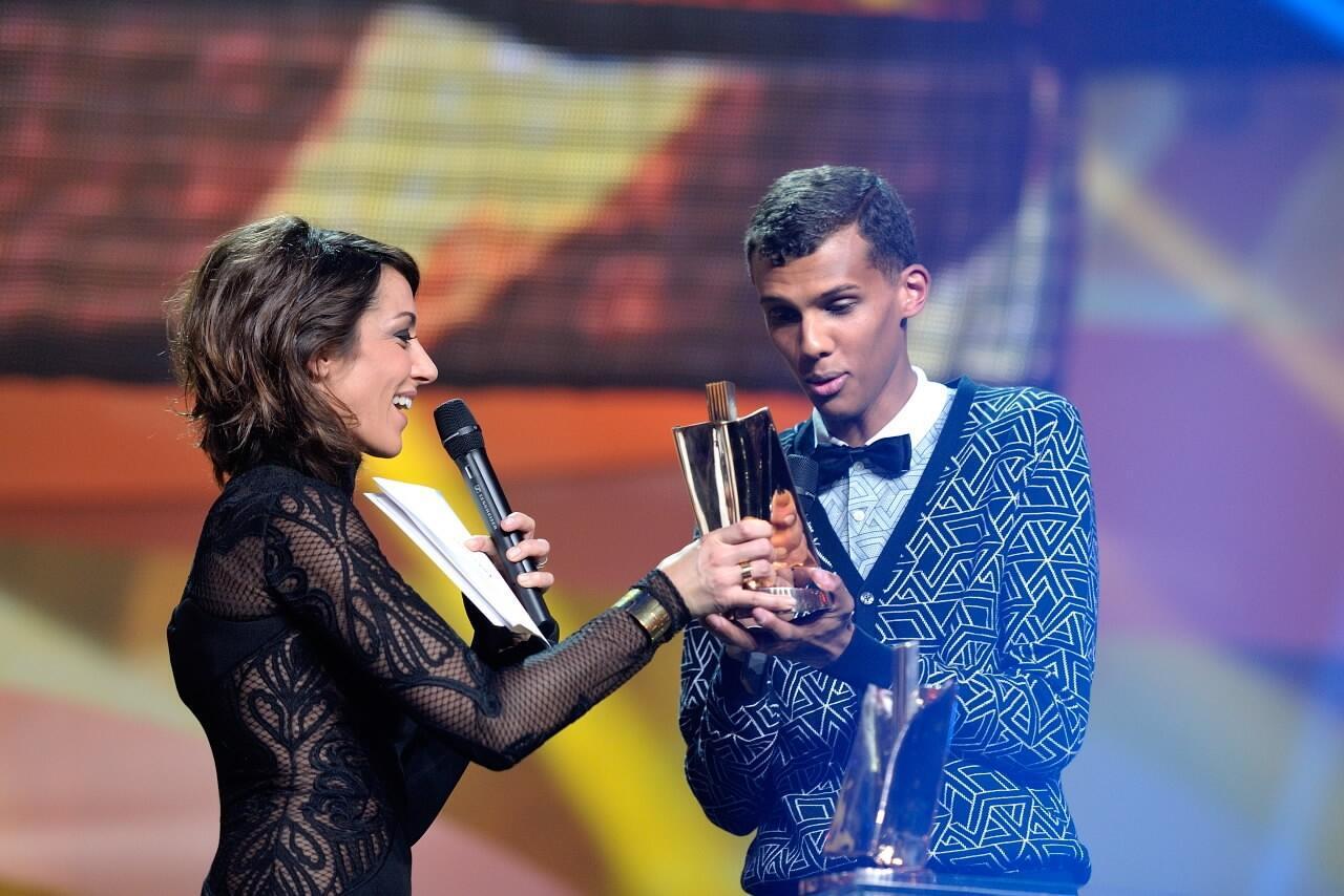 Стромаэ на вручении приза лучшего исполнителя года на фестивале Victoires de la Musique. 14 февраля 2014