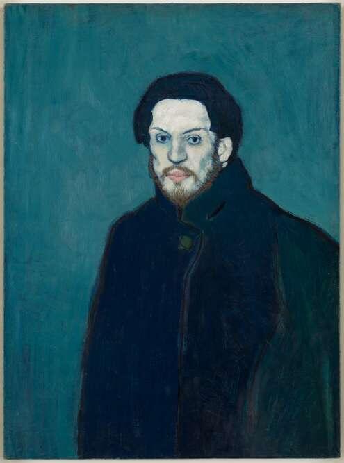 毕加索蓝色时期自画像(油画),1901年创作