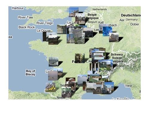 Interactive map of France