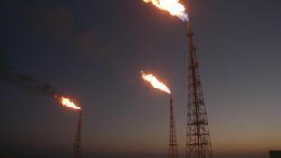 Installations pétrolières et gazières sur l'île iranienne de Kharg.