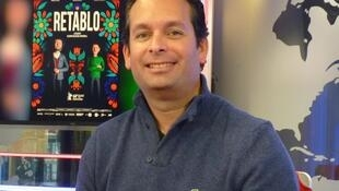 Álvaro Delgado Aparicio en los estudios de RFI