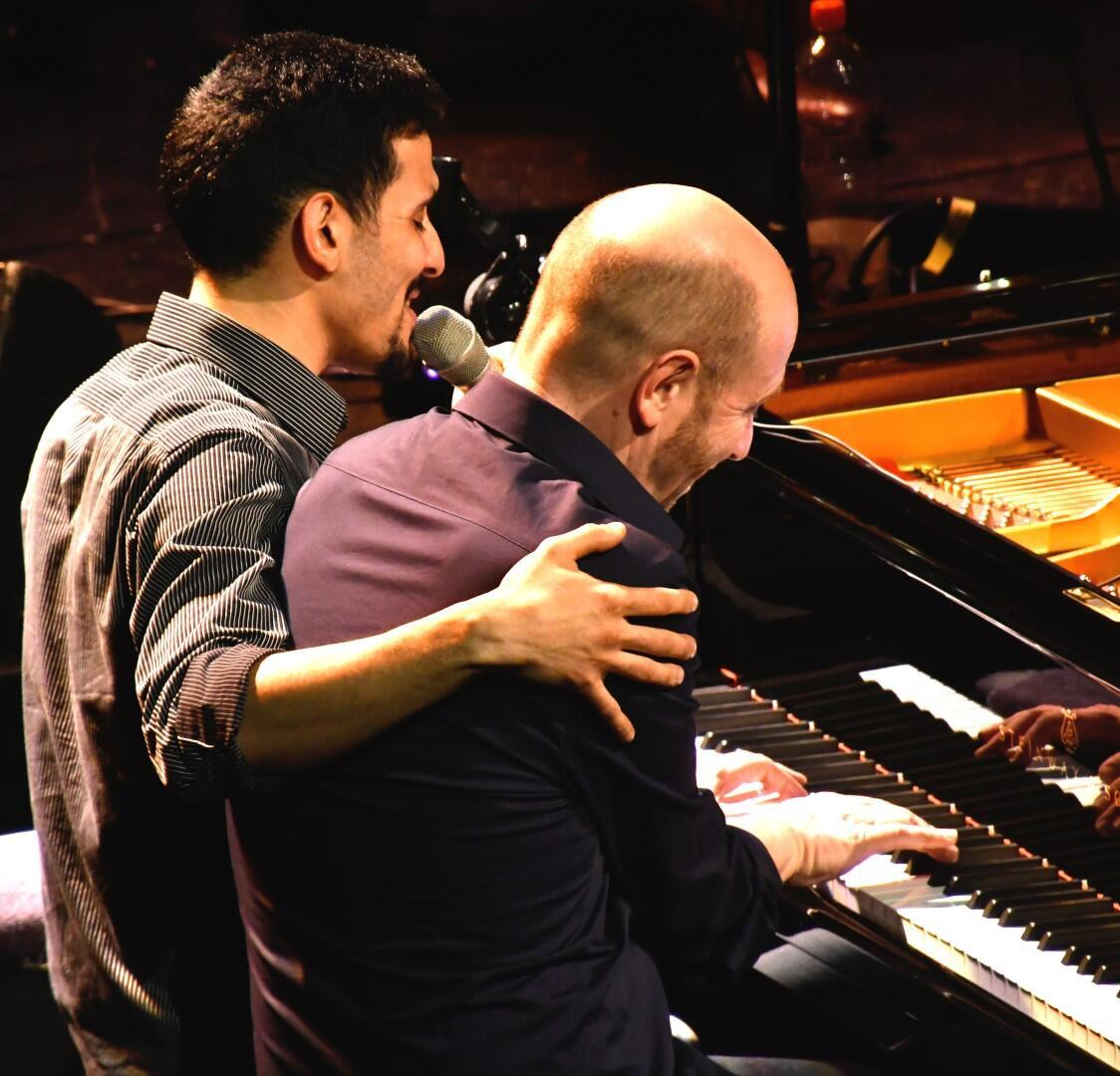 Aeham Ahamad, aka The Pianist of Yarmouk in harmony with jazz pianist Edgar Knecht