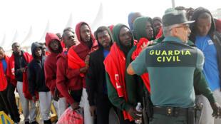 Plus de 20.000 migrants sont arrivés en Espagne depuis janvier 2018.