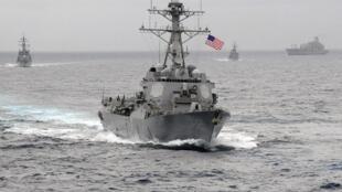 Khu trục hạm Mỹ USS Lassen trên Thái Bình Dương. Ảnh tư liệu chụp năm 2009.