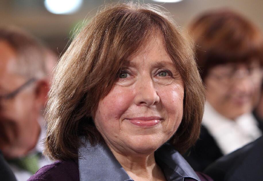 A escritora bielorrusa Svetlana Alexievitch, ganhadora do prêmio Nobel de Literatura em 2015.