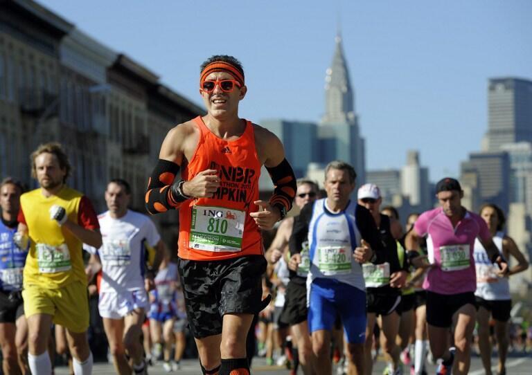 Coureurs lors du marathon de New York, le 6 novembre 2011.