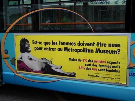 Affiche des Guerilla Girls, 2009.