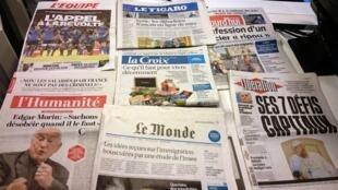 Diários franceses 13/10/2015