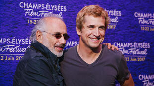 Film directors Jerry Schatzberg and Guillaume Canet at the Champs-Elysées Film Festival in June 2017